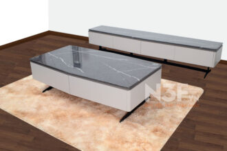 Bộ bàn trà mặt đá cao cấp mã Y701