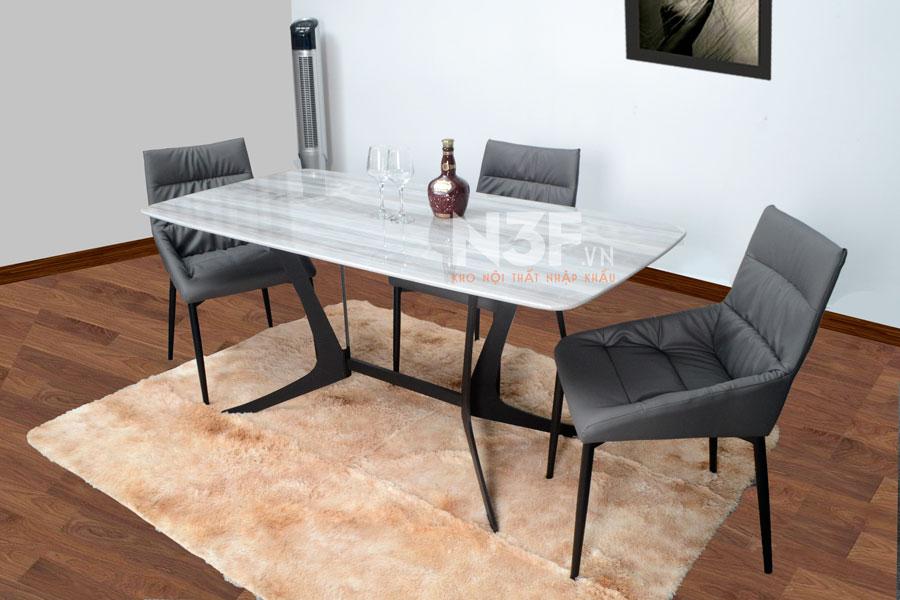 [ SIÊU SALE ] Bộ bàn ăn nhập khẩu mặt đá + 6 ghế