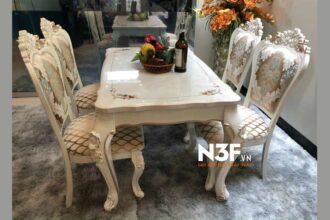 Bàn giao bộ bàn ăn phong cách tân cổ điển