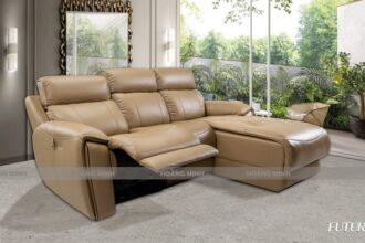 Sofa góc da nhập khẩu thư giãn H99919