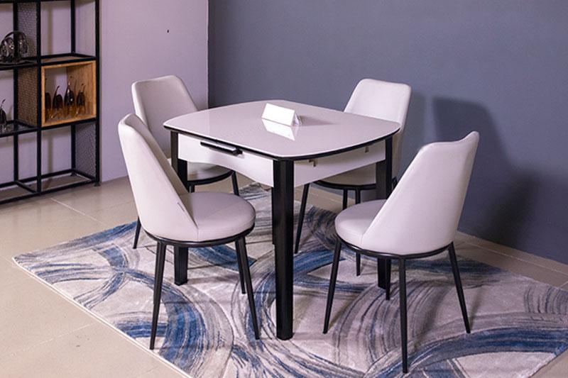 Bộ bàn ăn thu gọn mở rộng B68 ( Kèm 4 ghế )