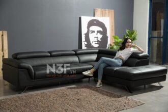 Sofa góc da nhập khẩu HG747