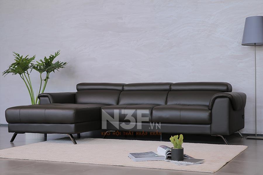 Sofa góc da nhập khẩu HG729