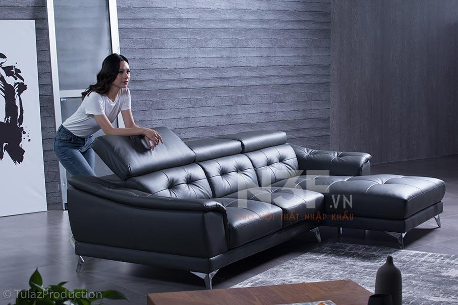 Sofa góc da nhập khẩu HG713