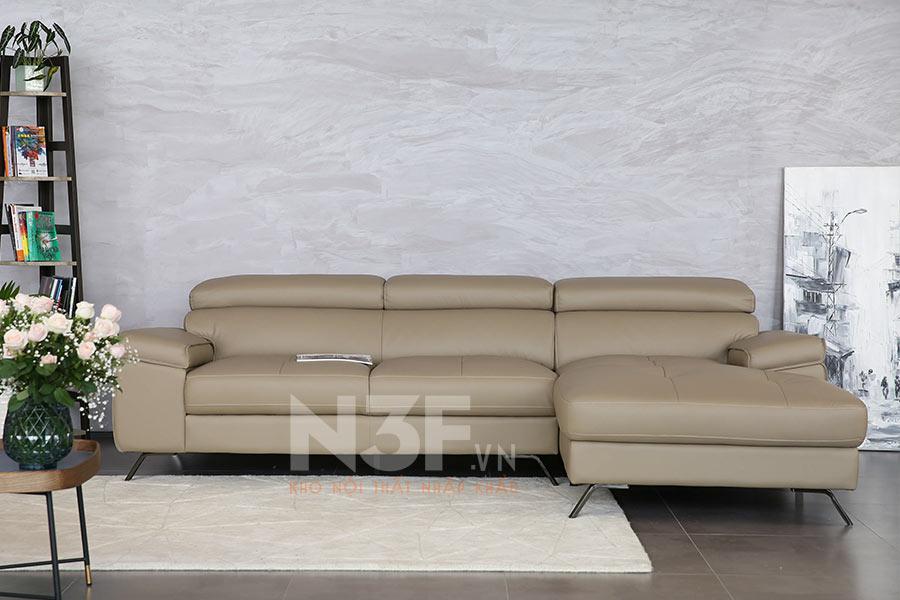Sofa góc da nhập khẩu HG710