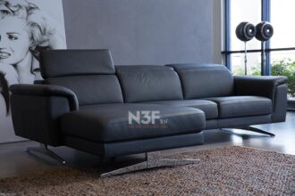 Sofa góc da nhập khẩu HG846