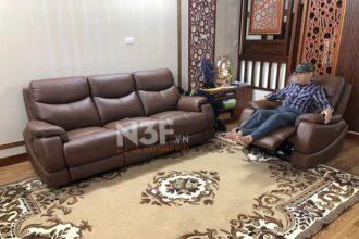 Bàn giao bộ sofa da thật nhập khẩu tại biệt thự Gamuda City