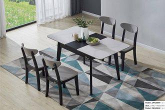 Bộ bàn ăn thông minh mở rộng F0060# (Kèm 4 ghế )