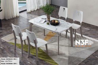 Bộ bàn ăn nhập khẩu mặt đá 6 ghế