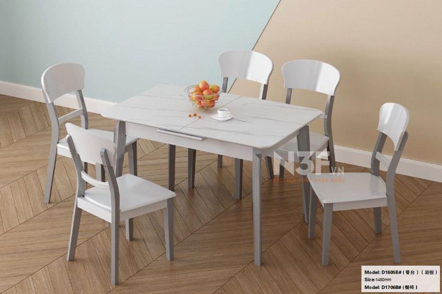 Bộ bàn ăn thông minh mở rộng nhập khẩu ( kèm 4 ghế )