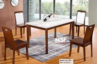 Bộ bàn ăn mặt kính kèm 6 ghế đẹp G-3#
