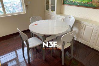 Lắp đặt bộ bàn ăn thông minh nhỏ gọn tại toà nhà HC long biên.