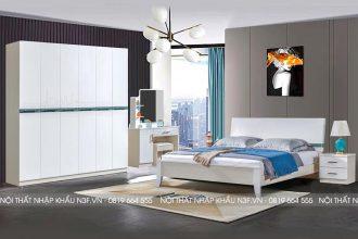 Bộ giường tủ hiện đại đẹp nhập khẩu F-3210#