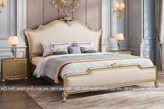 Giường ngủ phong cách tân cổ điển sang trọng F737C