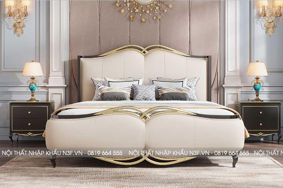 Giường ngủ phong cách tân cổ điển đẹp F9608C#