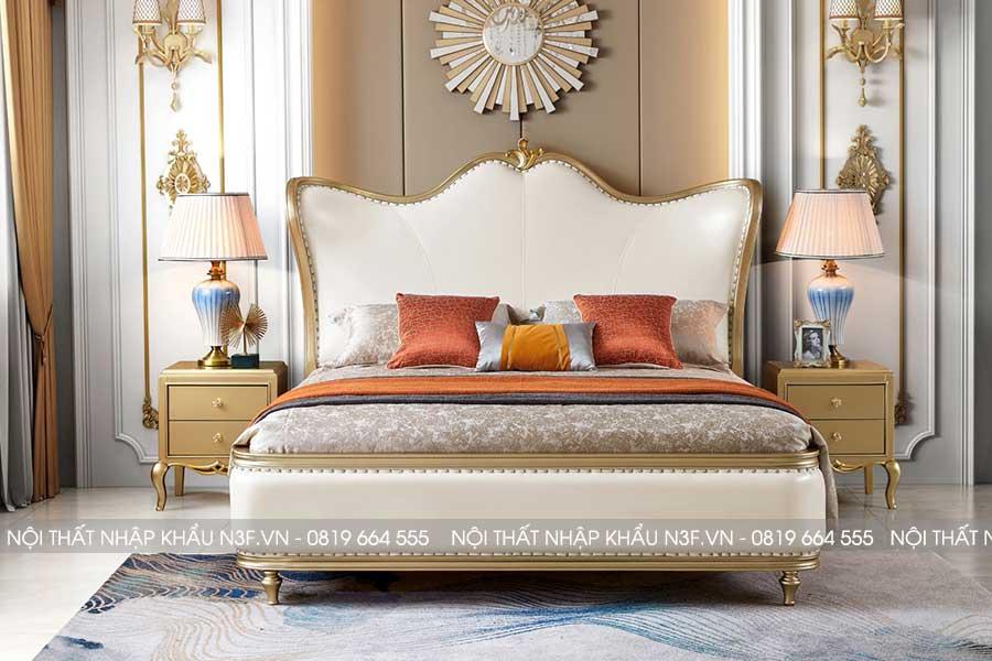 Giường ngủ phong cách tân cổ điển F-9603C