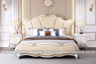 Giường ngủ phong cách tân cổ điển sang trọng F-9639C