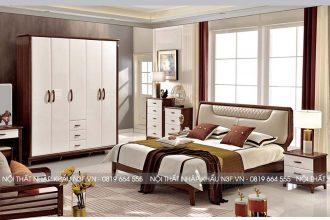 Bộ giường tủ phòng ngủ hiện đại nhập khẩu F126#
