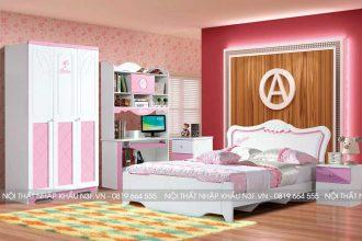 Bộ nội thất phòng ngủ công chúa cho bé gại hiện đại